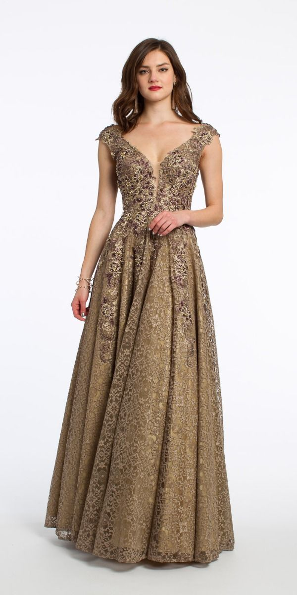 4e811017f78 All Over Lace Metallic Applique Beaded Dress from Camille La Vie and ...