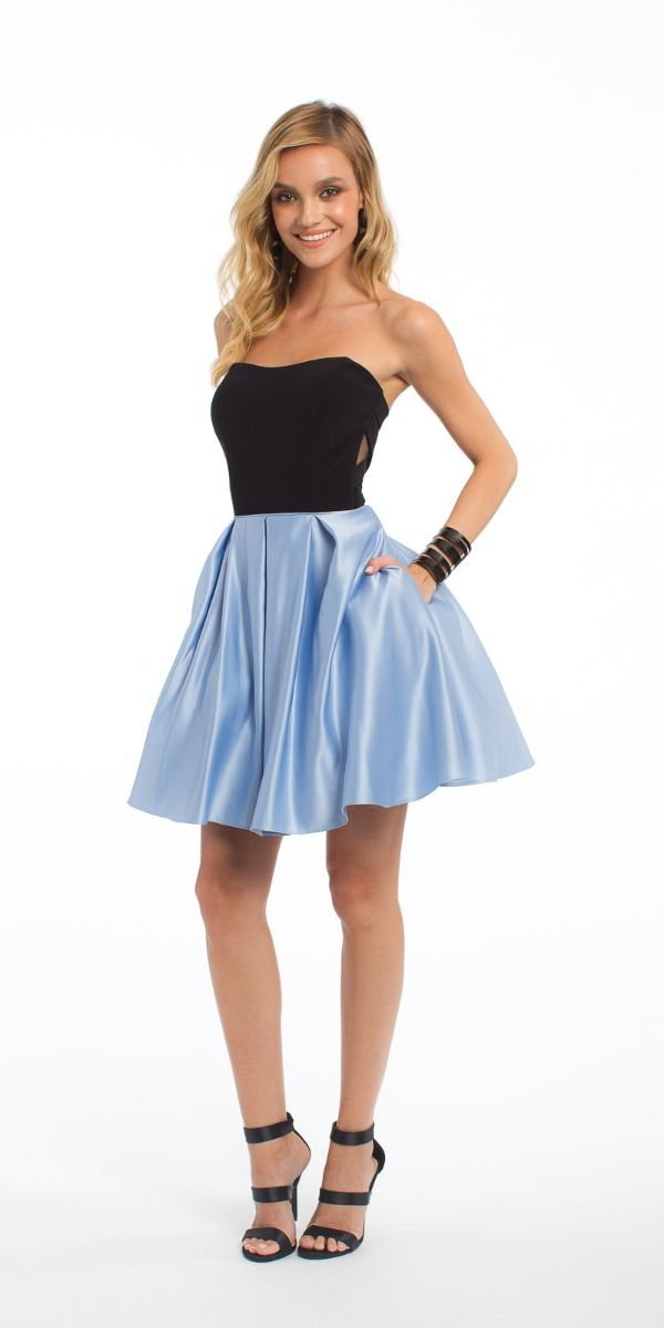 e40cd965d27ca Strapless Ity Cut Out Satin Dress from Camille La Vie and Group USA