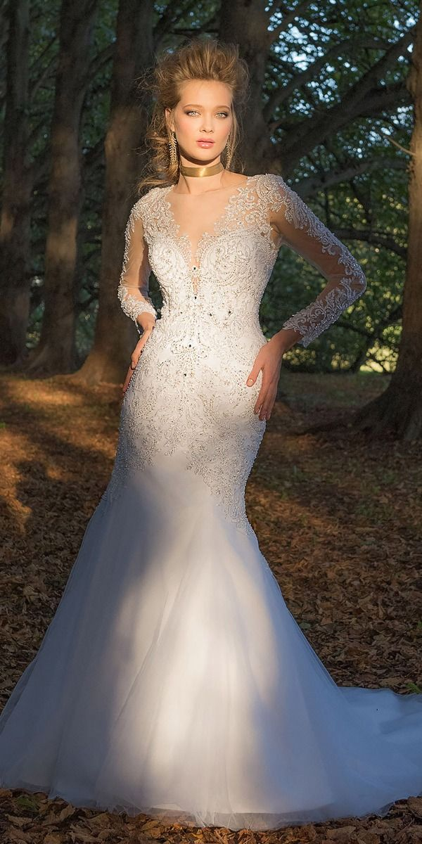76af71da5bd Lace and Tulle Dress with Illusion Sleeves from Camille La Vie and ...