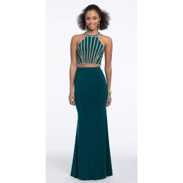 211490bcdd5 Two Piece Linear Beaded Jersey Dress from Camille La Vie and Group USA