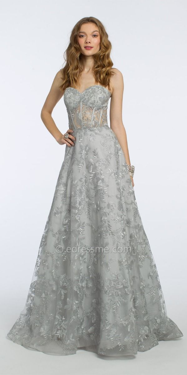d66487f4950e Strapless Floral Embroidered Ball Gown from Camille La Vie and Group USA