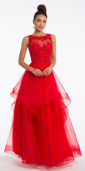 ff0755ac692 Embroidery Tier Ballgown Dress