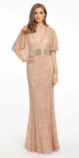 a6d0dde62a Sequence V Neckline Evening Dress