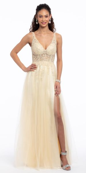 e4ae7e97106 Tank Illusion Applique Bodice Tulle Dress