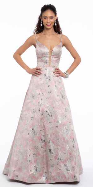 ed5249d1107 Brocade Empire Triple Beaded Waist Ballgown