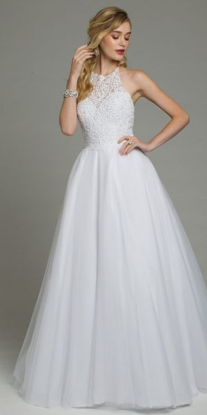 eb368505d6 Scroll Beaded Halter Neck Tulle Ballgown