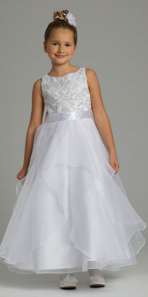 d30ef6e0e2b Beaded Organza Tiered Flower Girl Dress